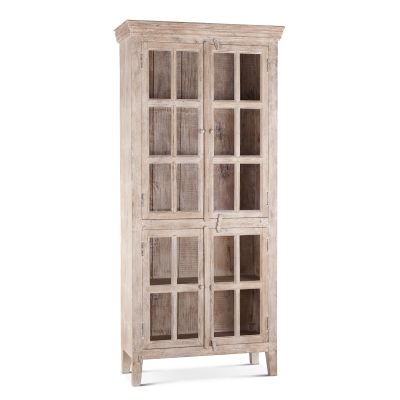 "Coral Gables 38"" Whitewash Tall Cabinet"