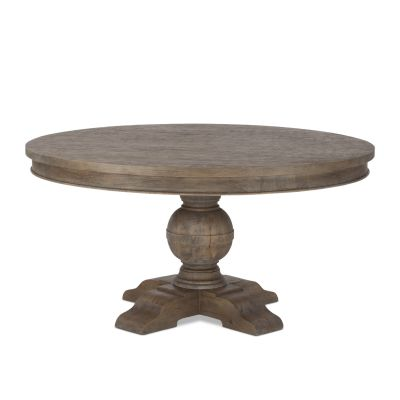 "Colonial Plantation 60"" Round Dining Table Weathered Teak"