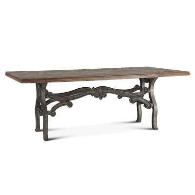 "French Vintage 84"" Dining Table Weathered Gray"