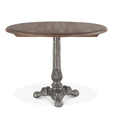 "French Vintage 40"" Round Dining Weathered Gray"