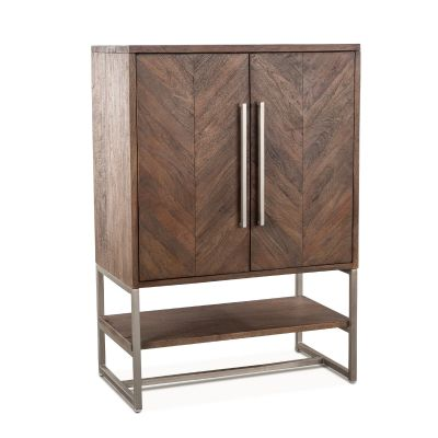 "Nobelle Bar Cabinet 36"" Weathered Teak"