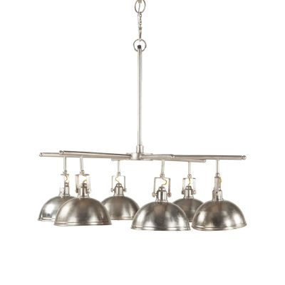 Industrial Loft 6-Light Chandelier Aluminum