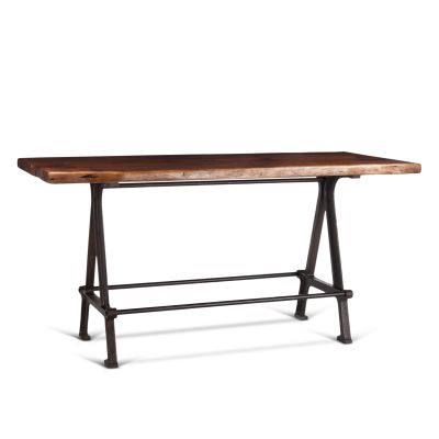 "Industrial Loft 72"" Gathering Table Walnut"