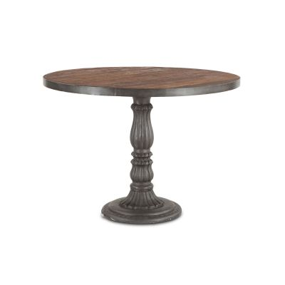"Industrial Teak 42"" Reclaimed Wood Round Dining Table"