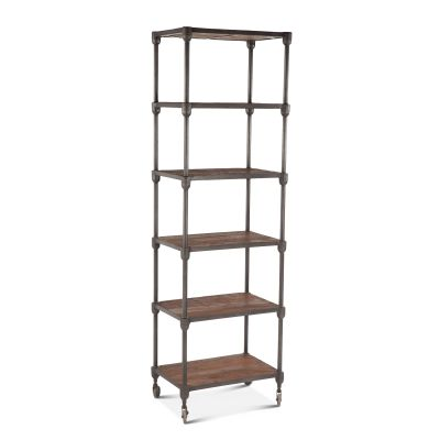 "Industrial Teak 25"" Wide Bookshelf"