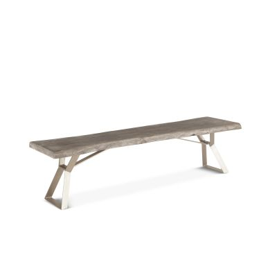 London Loft Bench Weathered Gray