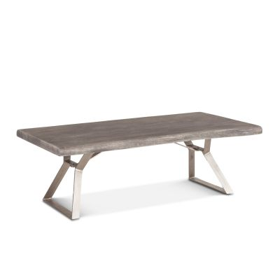 "London Loft Coffee Table 54"" Weathered Gray"
