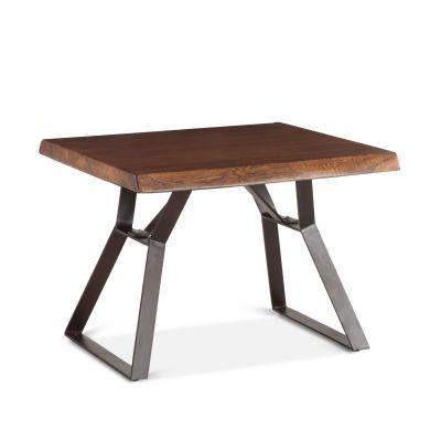 """London Loft Side Table 23"""" Walnut"""