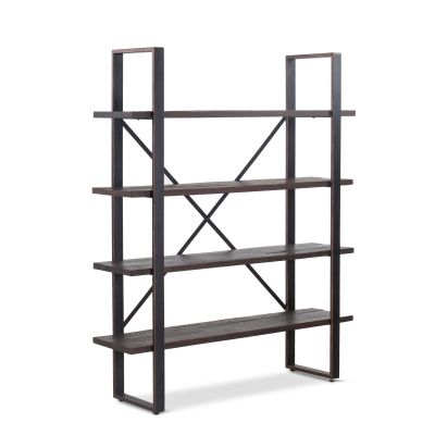 "Madrid 60"" Bookshelf Jacobean Brown"