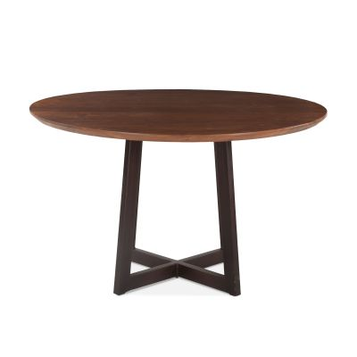 "Mozambique Round Dining Table 48"" Walnut"
