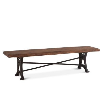 "Organic Forge Bench 70"" Raw Walnut"