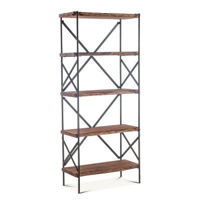 "Organic Forge Tall Bookshelf 34"" Raw Walnut"