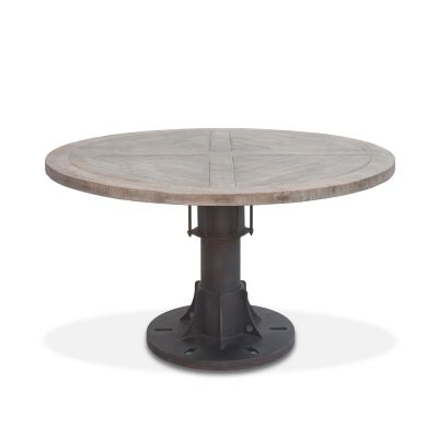 "Old Mill 54"" Reclaimed Wood Round Dining Table"