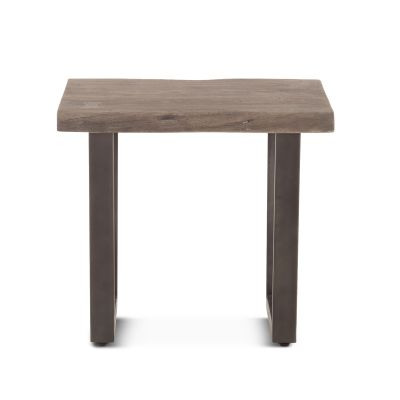 "Steamboat Side Table 28"" Weathered Gray"