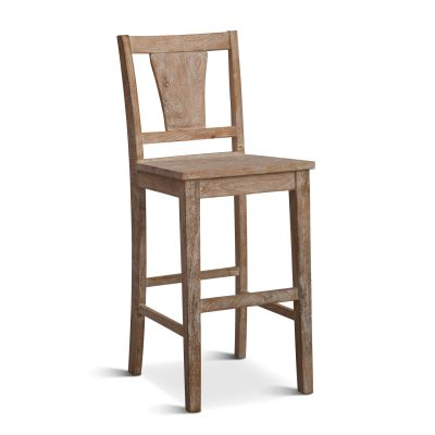 *Solana Beach Bar Chair Whitewash