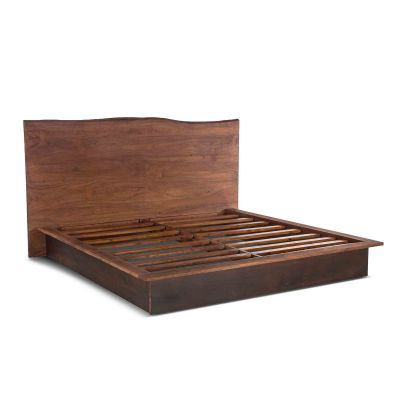 San Marino King Bed Raw Walnut Ebony