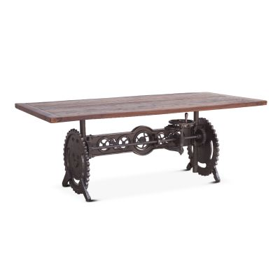 "Steampunk 84"" Adjustable Dining Table"