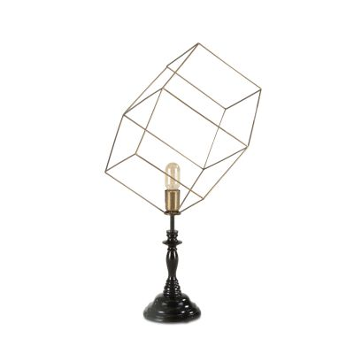 Tesla Geometric Cube Open Cage Table Lamp