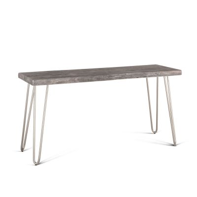 "Vail 58"" Console Table Weathered Gray"