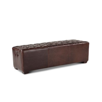 D'Orsay Leather Bench 58""