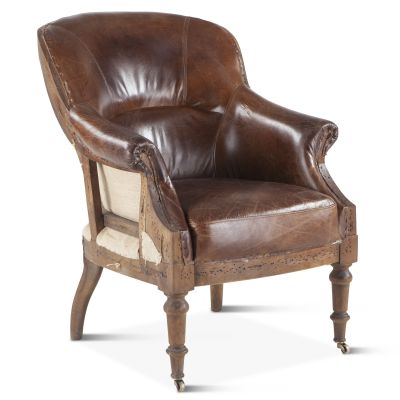 Shakespeare Deconstructed Armchair with Cigar Leather
