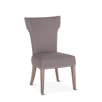 Rebecca Warm Gray Dining Chair with Napoleon Leg