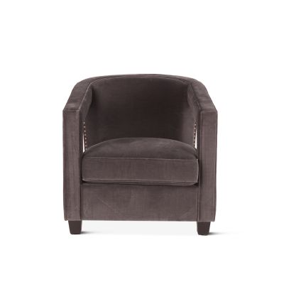 Danny Club Chair Vintage Gray Velvet