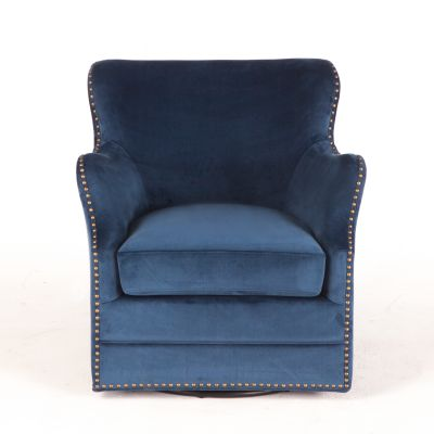 Finley Swivel Arm Chair Komodo Blue