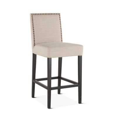 Jones Bar Chair Beige with Dark Legs
