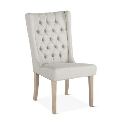 Lara Dining Chair Off-White with Napoleon Legs