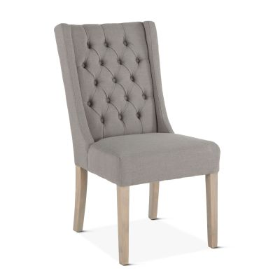 Lara Dining Chair Warm Gray with Napoleon Legs