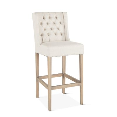 Lara Bar Chair Off-White with Napoleon Legs
