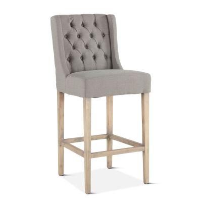 Lara Bar Chair Warm Gray with Napoleon Legs