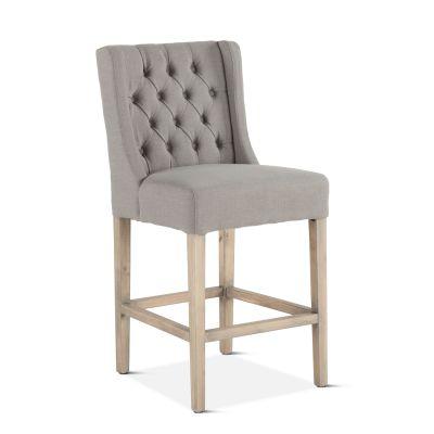Lara Counter Chair Warm Gray with Napoleon Legs