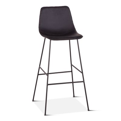 Curtis Eco-Leather Bar Chair Black