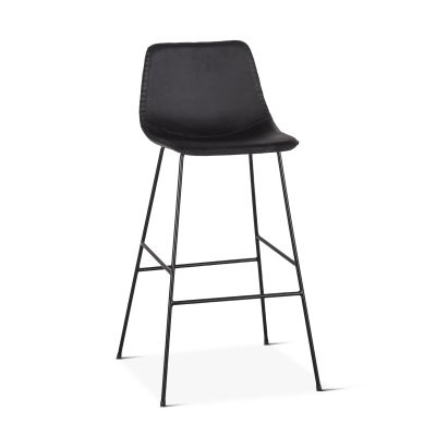 Curtis Eco-Leather Counter Chair Black