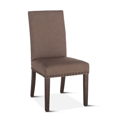 Sofie Dining Chair Olive with Weathered Teak Legs