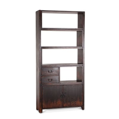 Library Adjustable Bookshelf Antique Black