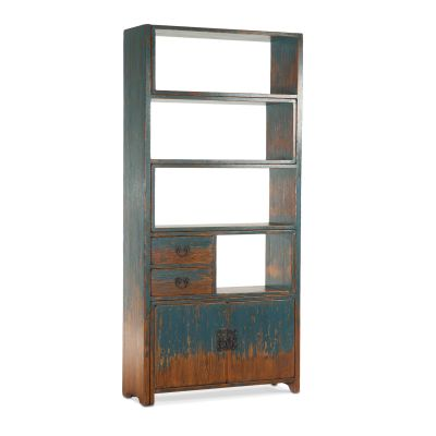 Library Adjustable Bookshelf Antique Blue