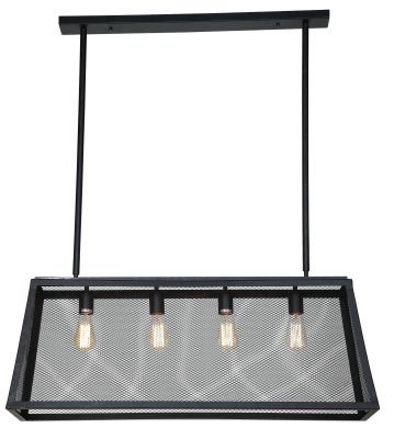 Luminaire Matte Black 4-Light Wire Pendant