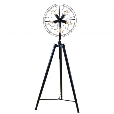 Luminaire Antique Fan Floor Lamp