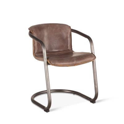 Portofino Leather Dining Chair Jet Brown
