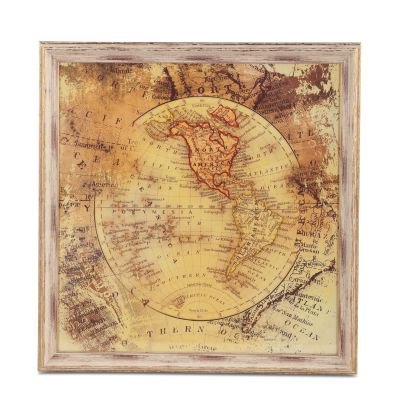 Peinture World Map of The Americas Art Photo
