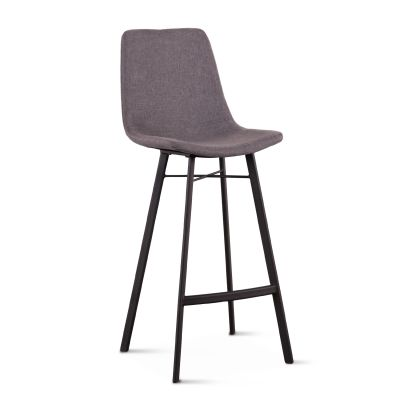 Sam Dark Gray Linen Bar Chair