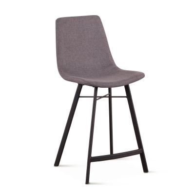 Sam Dark Gray Linen Counter Chair