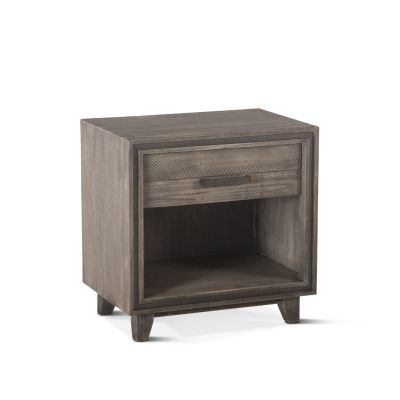"Driftwood 26"" Night Chest Weathered Graywash"