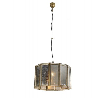 Boho Antique Brass Large Round Ceiling Light