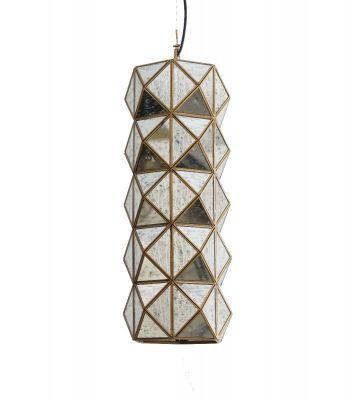 Boho Antique Brass Long Prism Pendant