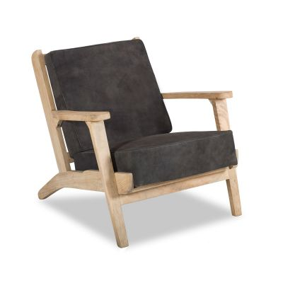 Dallas Inwood Chair Asphalt Suede