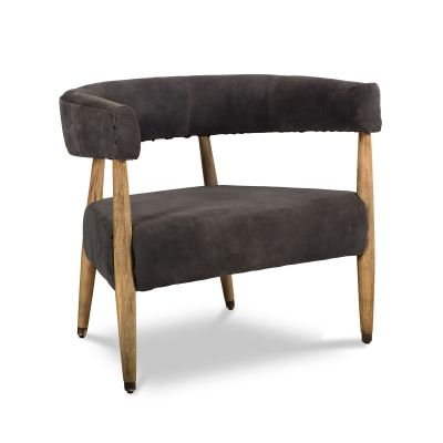 Dallas Sonny Arm Chair Asphalt Suede